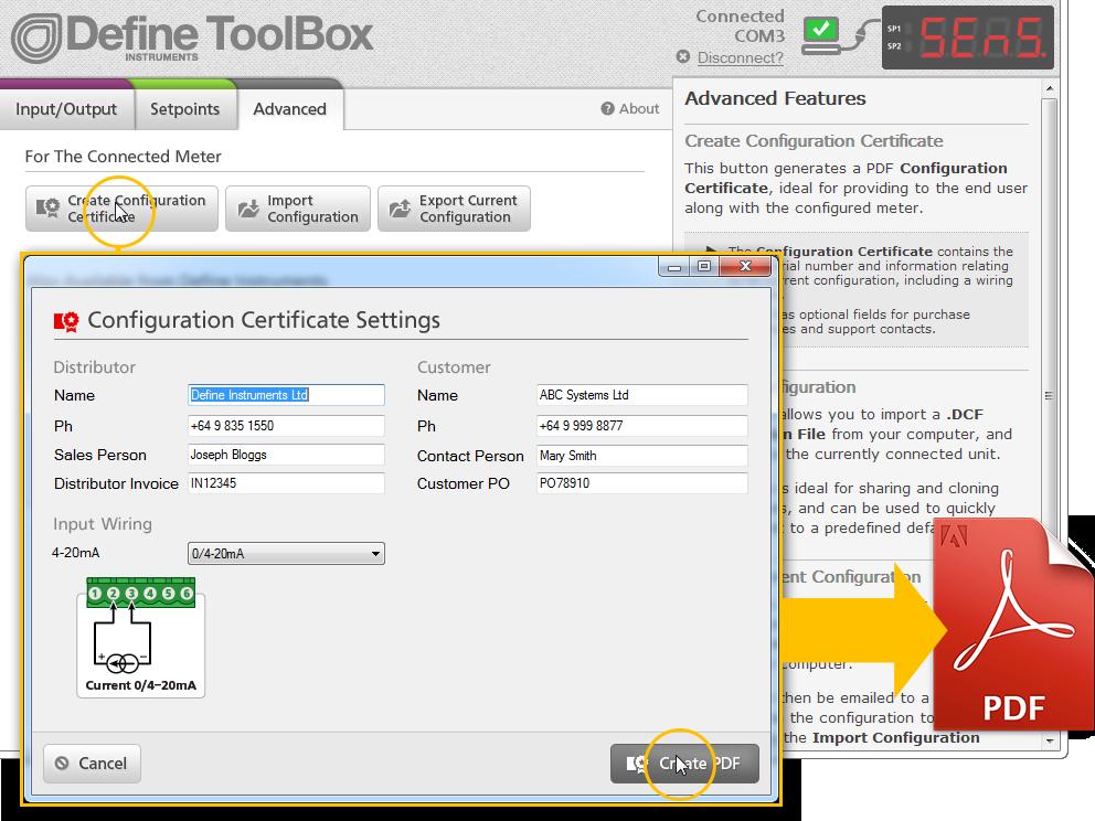 Configuration Certificate