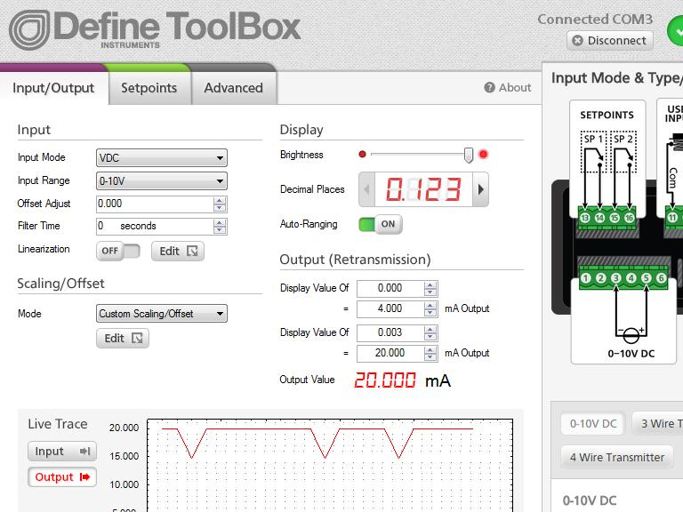 ToolBox Flexible Input & Output Setup