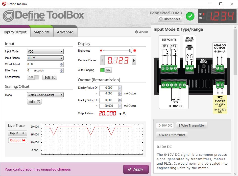 Define ToolBox Configuration Software