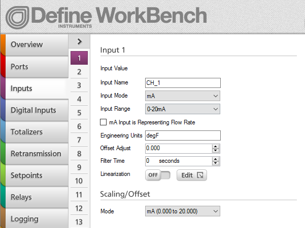 WorkBench Inputs